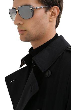 Мужские солнцезащитные очки EQUE.M серого цвета, арт. CHIVALRY/SS-NV | Фото 2
