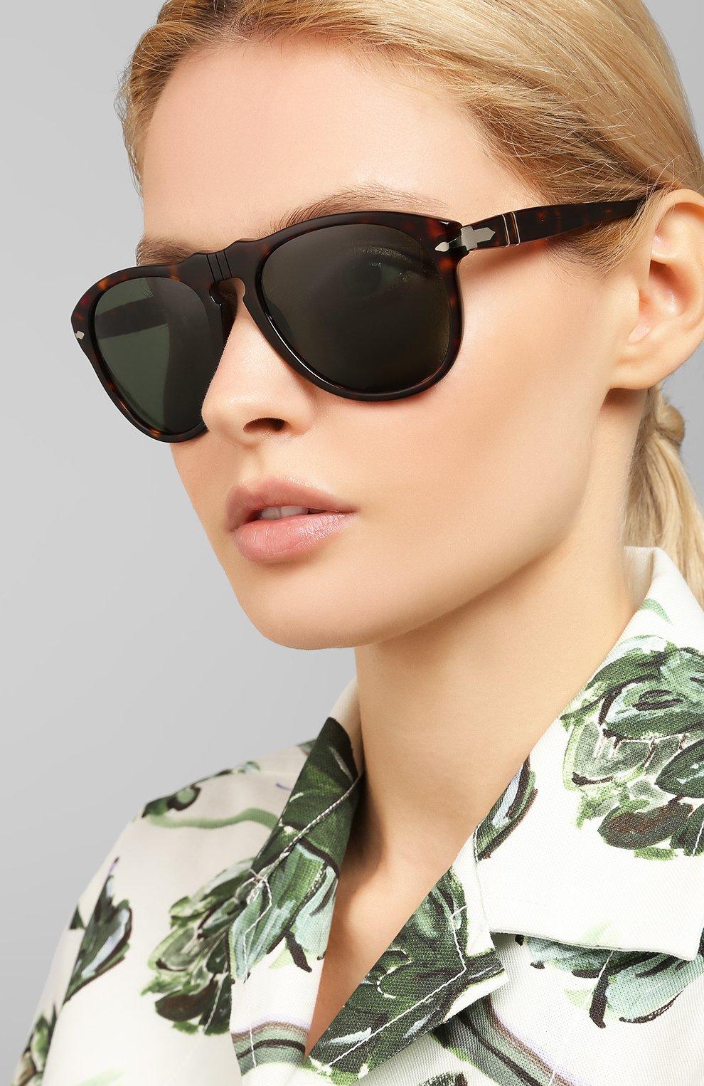 Женские солнцезащитные очки PERSOL коричневого цвета, арт. 0649-24/31   Фото 2