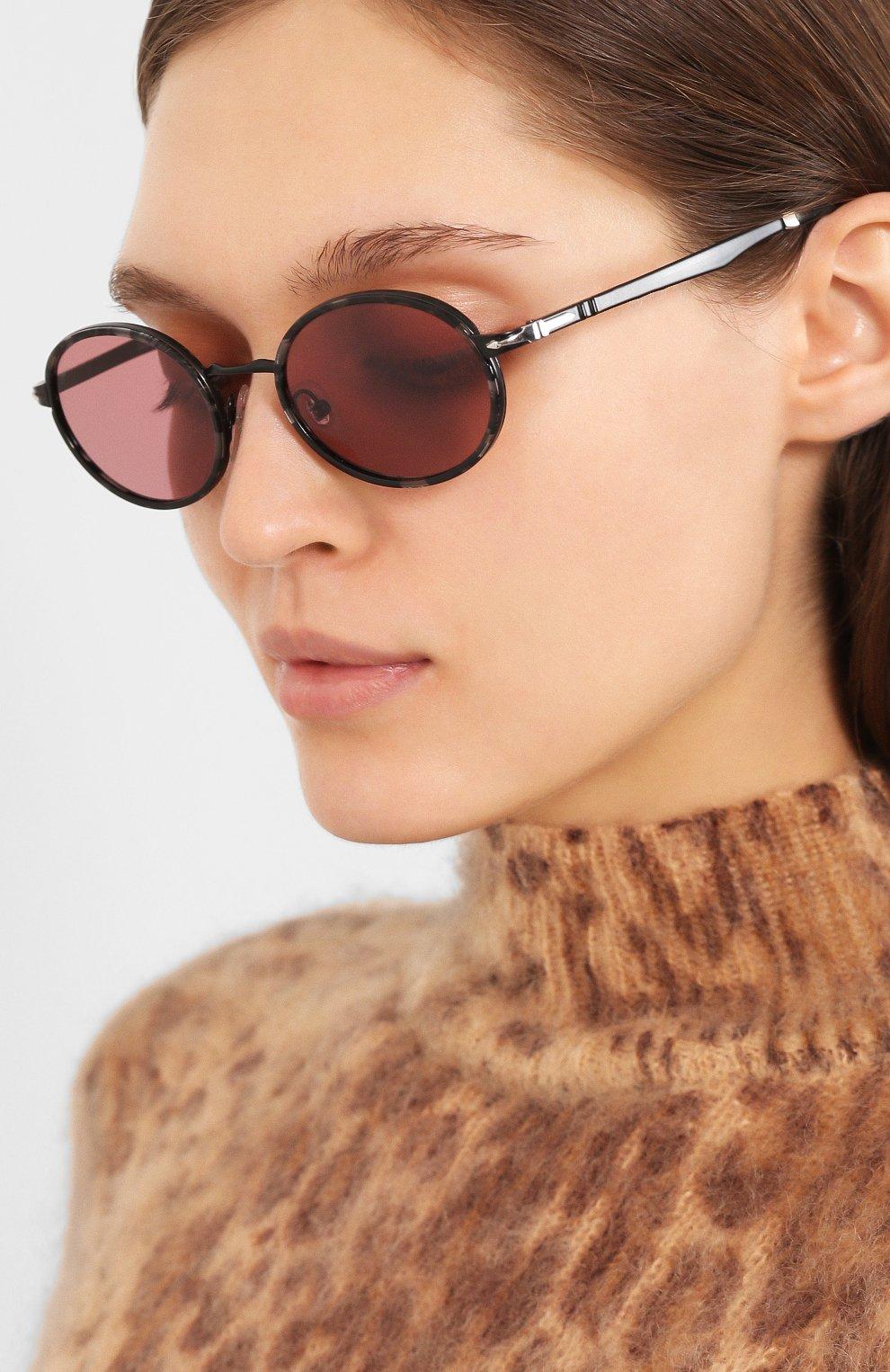 Женские солнцезащитные очки PERSOL розового цвета, арт. 2457S-10784R   Фото 2