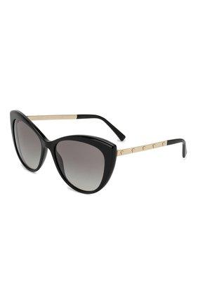 Женские солнцезащитные очки VERSACE черного цвета, арт. 4348-GB1/11 | Фото 1