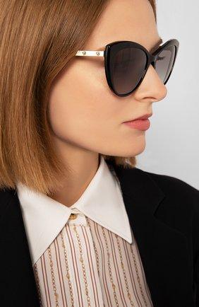 Женские солнцезащитные очки VERSACE черного цвета, арт. 4348-GB1/11 | Фото 2