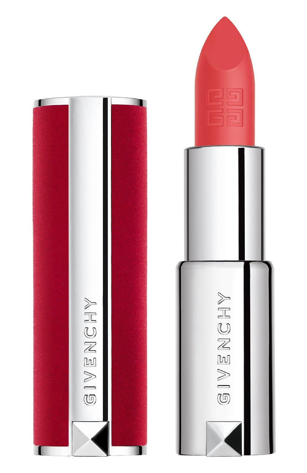 Женская матовая губная помада le rouge deep velvet, 33 orange sable GIVENCHY бесцветного цвета, арт. P083574 | Фото 1