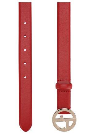 Женский кожаный ремень GIORGIO ARMANI красного цвета, арт. Y1I169/YSB3A | Фото 2 (Статус проверки: Проверена категория)