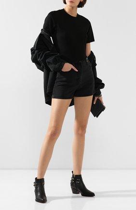 Женские кожаные ботинки valentino garavani rockstud VALENTINO черного цвета, арт. SW0S0S04/VXS | Фото 2