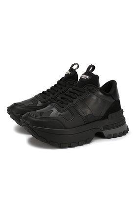 Кожаные кроссовки Valentino Garavani Rockrunner.Up   Фото №1