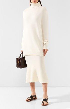 Женский кашемировый свитер ADDICTED белого цвета, арт. MK726   Фото 2