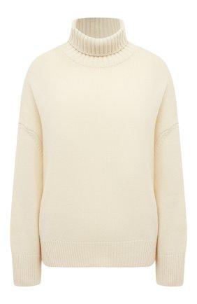 Женский свитер из смеси шерсти и кашемира ADDICTED белого цвета, арт. MK840   Фото 1
