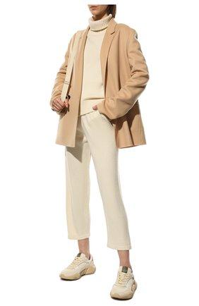Женский свитер из смеси шерсти и кашемира ADDICTED белого цвета, арт. MK840   Фото 2