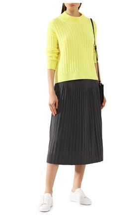 Женский кашемировый свитер ADDICTED желтого цвета, арт. MK915 | Фото 2