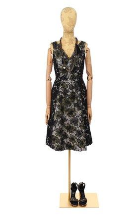 Женское шелковое платье OSCAR DE LA RENTA разноцветного цвета, арт. P16E650BLW | Фото 1