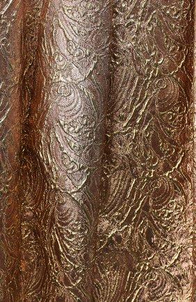 Женская юбка из смеси шелка и шерсти OSCAR DE LA RENTA золотого цвета, арт. F16N201SRSG | Фото 2