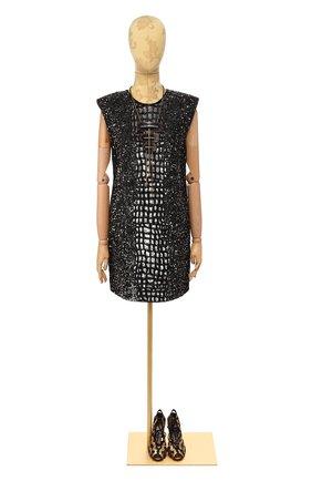 Женское платье с пайетками VERSACE серебряного цвета, арт. A80129/A221140 | Фото 1