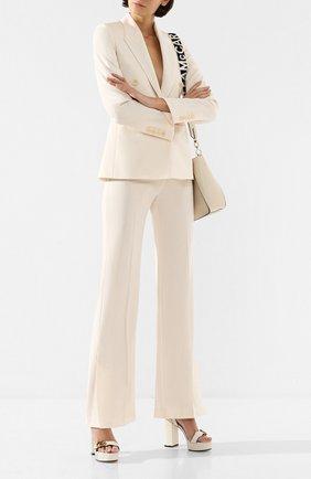 Женские шерстяные брюки STELLA MCCARTNEY бежевого цвета, арт. 581451/SNB77 | Фото 2
