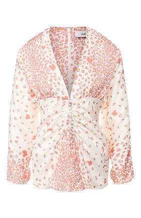 Женская блузка с принтом RACIL коричневого цвета, арт. RS9-T9-S-AMANDA | Фото 1