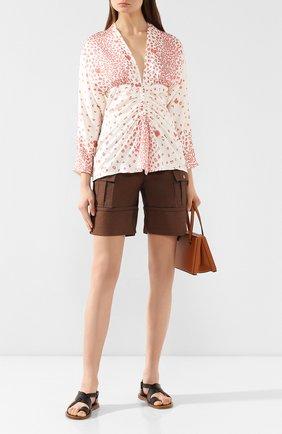 Женская блузка с принтом RACIL коричневого цвета, арт. RS9-T9-S-AMANDA | Фото 2