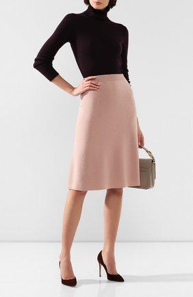 Женская кашемировая юбка LORO PIANA розового цвета, арт. FAI8517   Фото 2