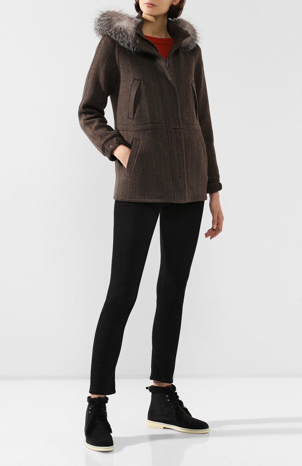 Куртка с меховой отделкой | Фото №2