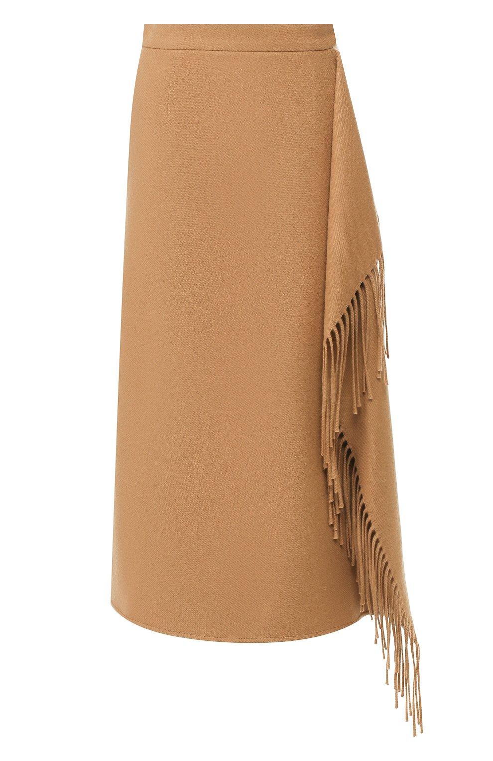 Женская шерстяная юбка ESCADA бежевого цвета, арт. 5031182 | Фото 1