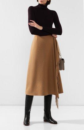 Женская шерстяная юбка ESCADA бежевого цвета, арт. 5031182 | Фото 2