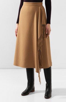 Женская шерстяная юбка ESCADA бежевого цвета, арт. 5031182 | Фото 3
