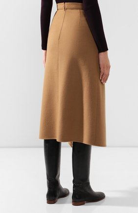 Женская шерстяная юбка ESCADA бежевого цвета, арт. 5031182 | Фото 4