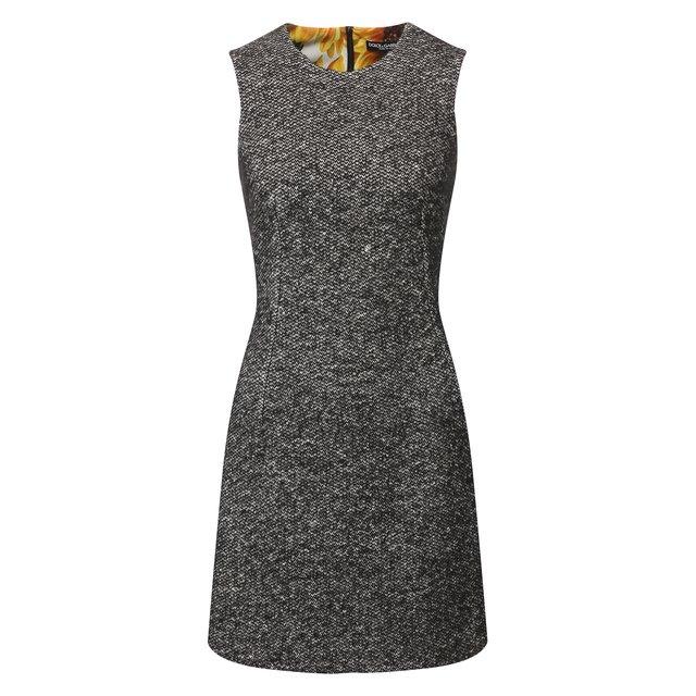 Платье из смеси шерсти и шелка Dolce & Gabbana