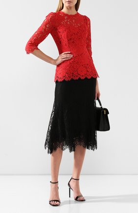 Женская кружевная юбка DOLCE & GABBANA черного цвета, арт. F4BQ3T/FLMUV | Фото 2
