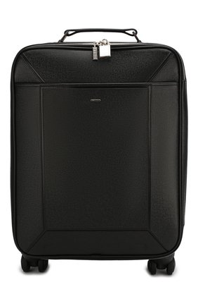 Мужской кожаный чемодан ZILLI черного цвета, арт. MJL-0BW02-19180/0001 | Фото 1