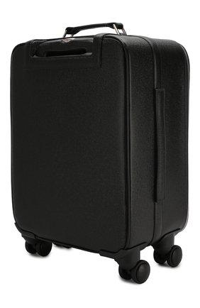 Мужской кожаный чемодан ZILLI черного цвета, арт. MJL-0BW02-19180/0001 | Фото 2
