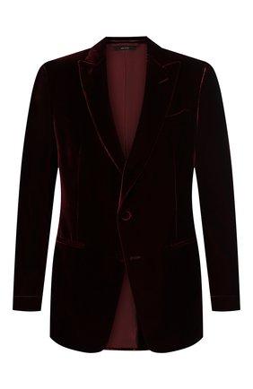 Мужской пиджак из вискозы TOM FORD бордового цвета, арт. 6VER50/11NQ40 | Фото 1