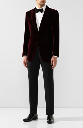 Мужской пиджак из вискозы TOM FORD бордового цвета, арт. 6VER50/11NQ40 | Фото 2