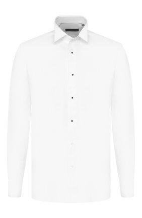 Мужская хлопковая сорочка CORNELIANI белого цвета, арт. 84P197-9811084/00 | Фото 1