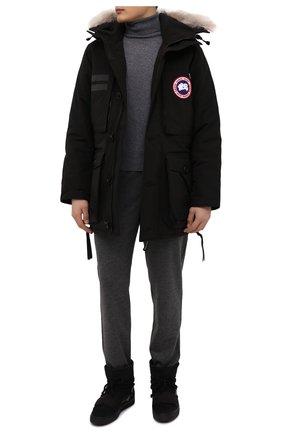 Мужские замшевые сапоги INUIKII черного цвета, арт. 50202-50 | Фото 2