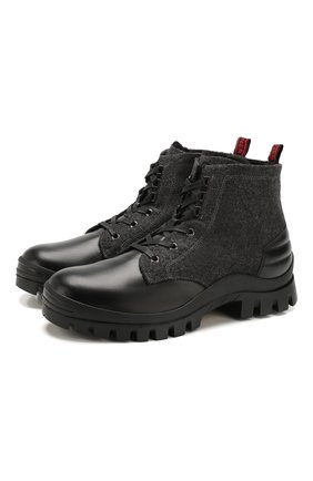 Мужские комбинированные ботинки BOGNER черного цвета, арт. 193-3533/SYLT 2A | Фото 1