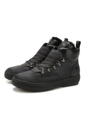 Мужские кожаные ботинки BOGNER темно-серого цвета, арт. 193-A543/ANCH0RAGE M 1C | Фото 1
