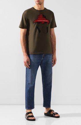 Мужские кожаные шлепанцы valentino garavani x birkenstock VALENTINO черного цвета, арт. SY0S0C48/RKW   Фото 2