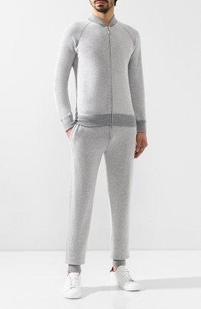 Мужской кашемировый спортивный костюм ANDREA CAMPAGNA серого цвета, арт. 57150/15549 | Фото 1