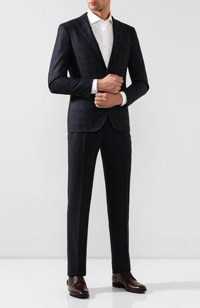 Мужской кожаные дерби KITON коричневого цвета, арт. USSUR0N00101 | Фото 2