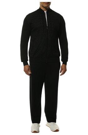 Мужской спортивный костюм из смеси кашемира и шелка ZILLI черного цвета, арт. MBS-J0129-PARI1/ML01 | Фото 1