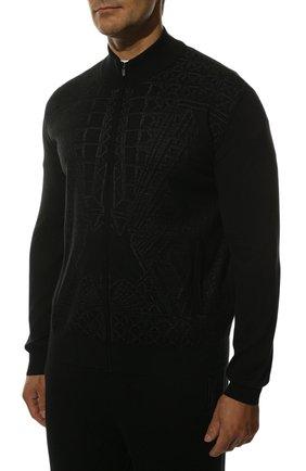 Мужской спортивный костюм из смеси кашемира и шелка ZILLI черного цвета, арт. MBS-J0129-PARI1/ML01 | Фото 2