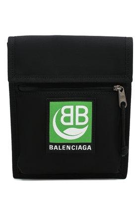 Мужская текстильная сумка explorer BALENCIAGA черного цвета, арт. 532298/9WB95 | Фото 1