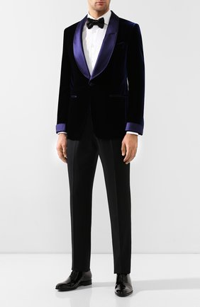 Мужской пиджак из вискозы TOM FORD синего цвета, арт. 6VER40/11S840 | Фото 2
