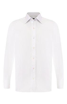 Мужская хлопковая сорочка TOM FORD белого цвета, арт. 6FT050/94C1JE | Фото 1