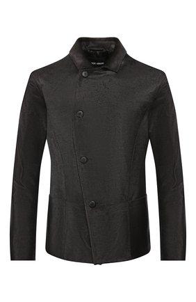 Мужская кожаная куртка GIORGIO ARMANI темно-коричневого цвета, арт. 4SG01P/4SP25   Фото 1
