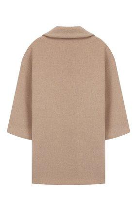 Детское двубортное пальто из шерсти UNLABEL бежевого цвета, арт. SHIN-1/27-IN306/12A-16A | Фото 2
