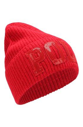 Детского шапка POLO RALPH LAUREN красного цвета, арт. 313763438 | Фото 1