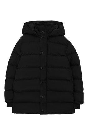Детский куртка с капюшоном NEIL BARRETT KIDS черного цвета, арт. 021020 | Фото 1