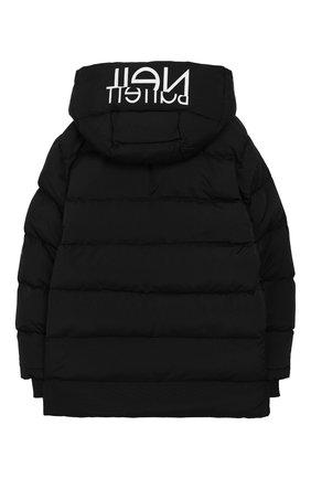 Детский куртка с капюшоном NEIL BARRETT KIDS черного цвета, арт. 021020 | Фото 2