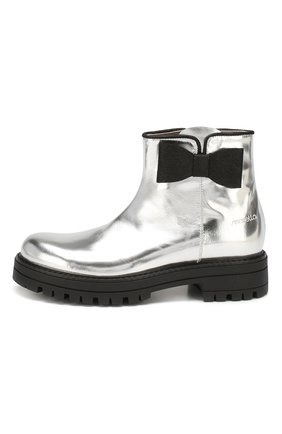 Детские кожаные ботинки SIMONETTA серебряного цвета, арт. SI4TR004/MIRR0R/35-40 | Фото 2