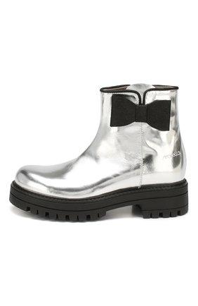 Детские кожаные ботинки SIMONETTA серебряного цвета, арт. SI4TR004/MIRR0R/28-34 | Фото 2